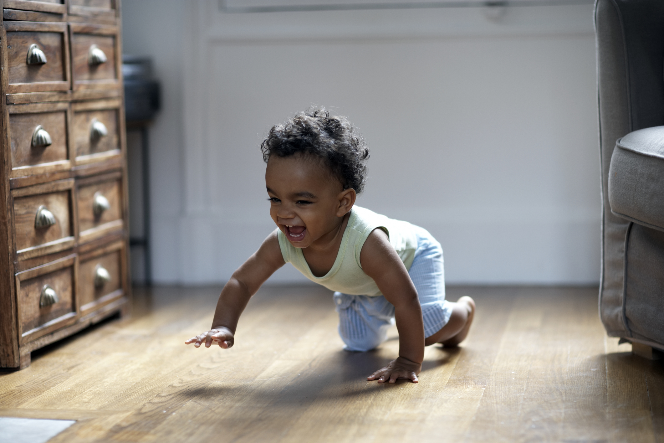 Baby Crawling and Laughing
