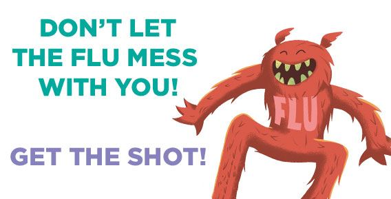Don't let the flu mess with you!