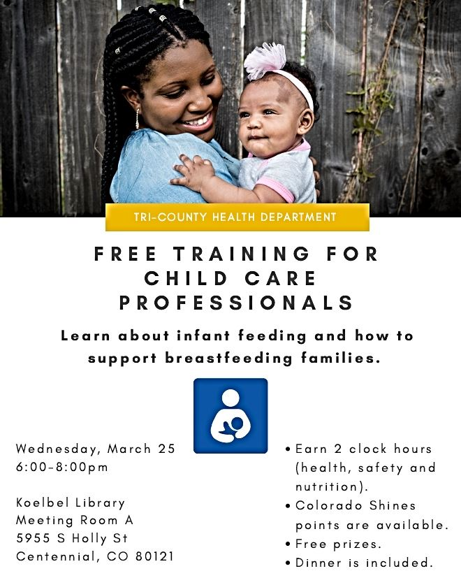 Free Breastfeeding Class Flier for Child Care Professionals